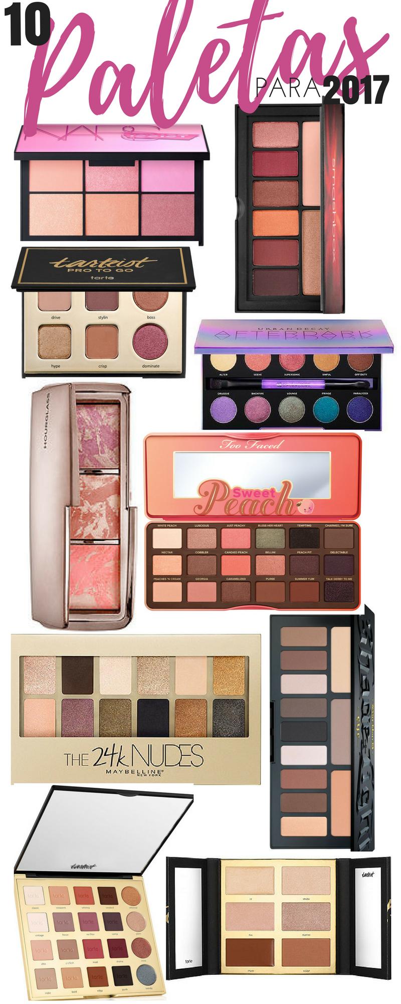 10 Paletas de Maquillaje que