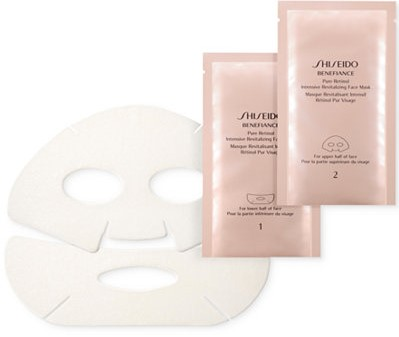 Las 10 mejores mascarillas de hoja (Sheet Masks) Shiseido 'Benefiance' Pure Retinol Intensive Revitalizing Face Mask by Alejandra Avila
