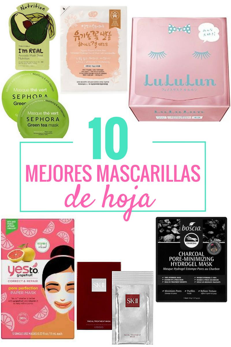 Las 10 mejores mascarillas de hoja (Sheet Masks) by Alejandra Avila