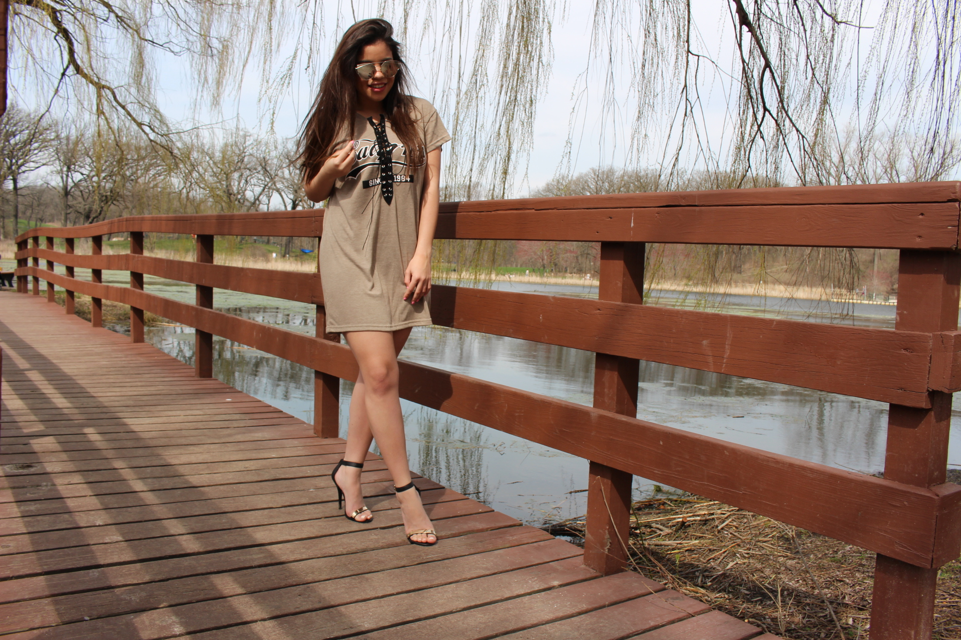 Nude dress outfit by Alejandra Avila