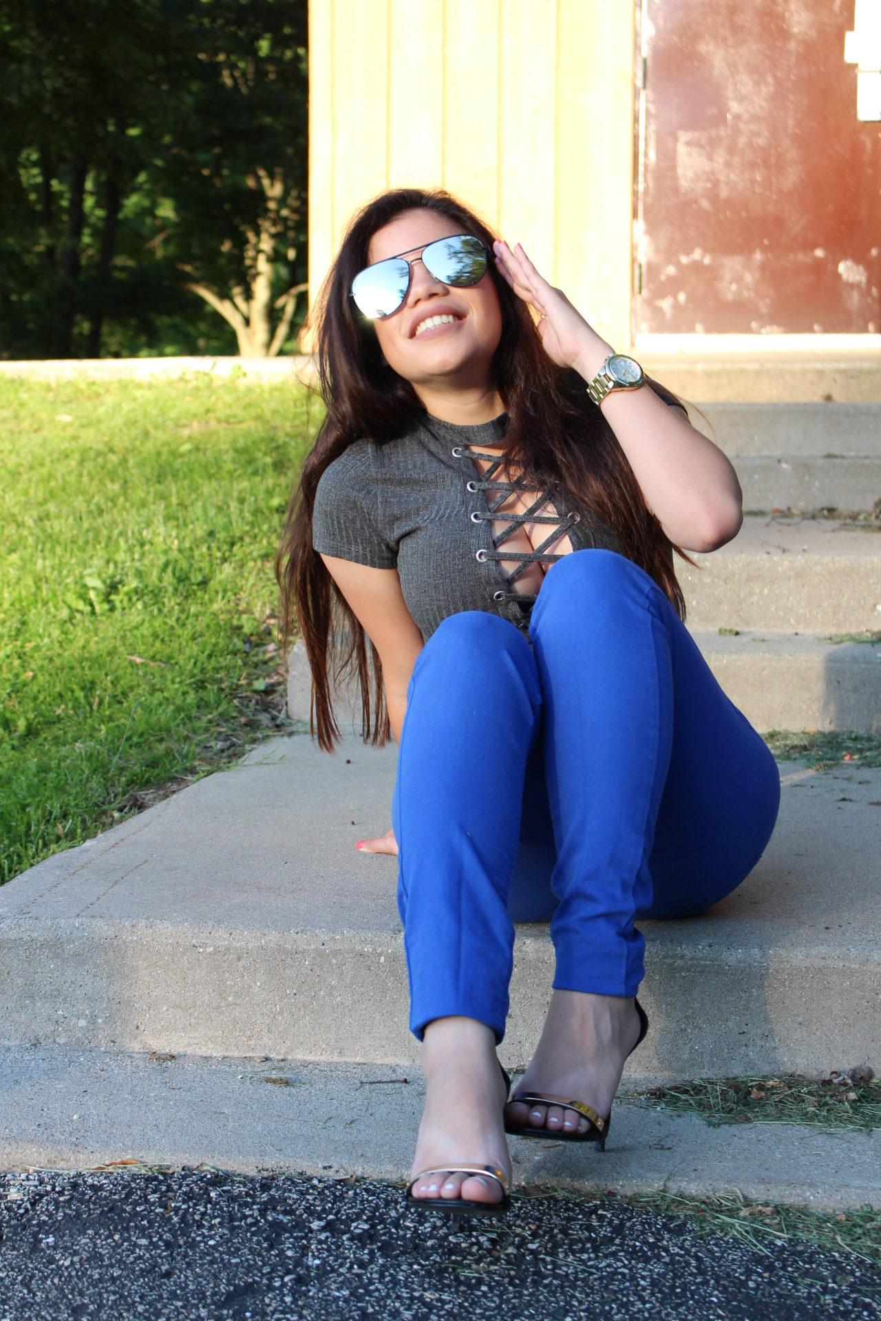 Tobi gray bodysuit OOTD OOTN outfit ideas tobi online store casual outfit by Alejandra Avila - Tufashionpetite