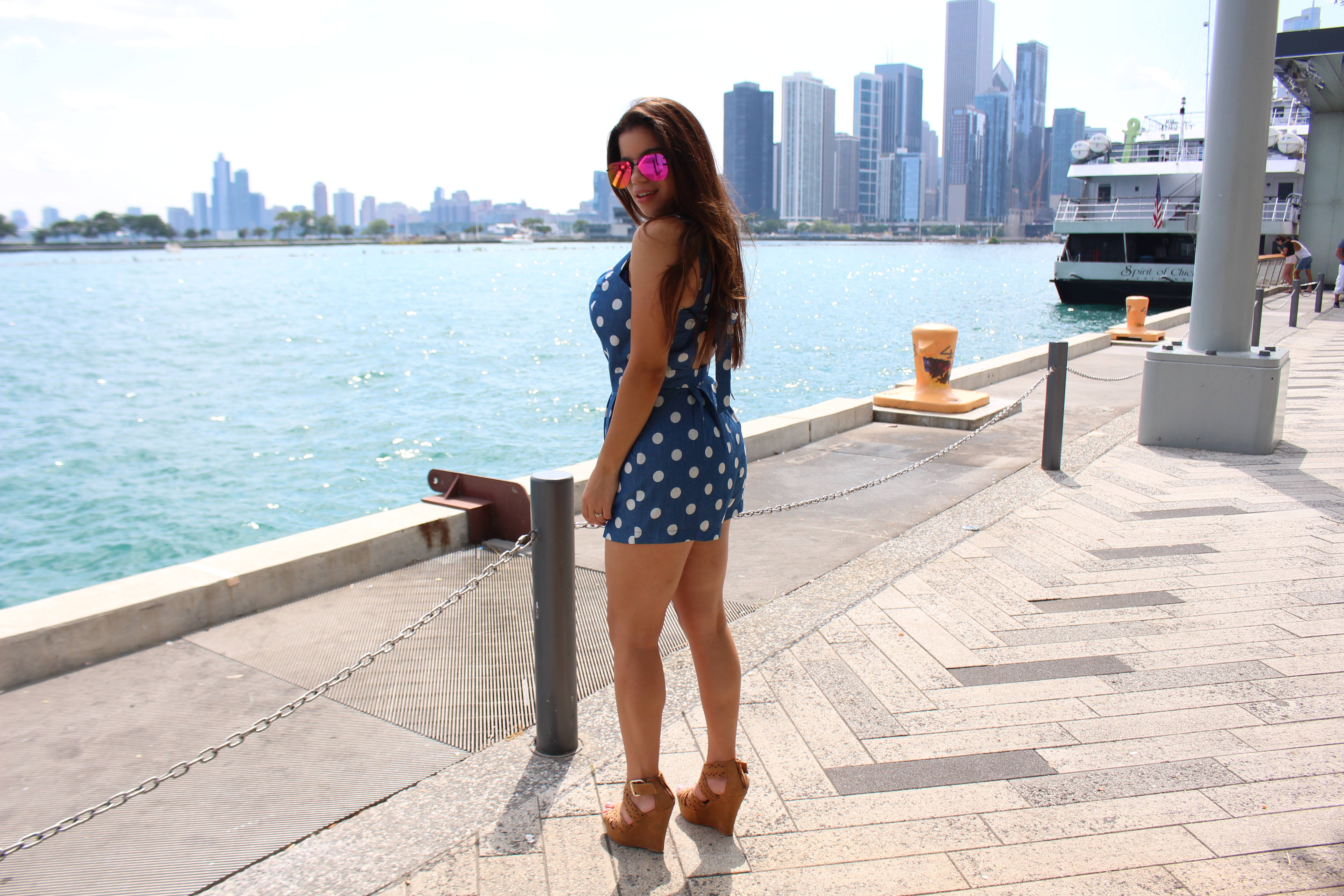 32fd4f2232ba5 Navy Pier Jumpsuit Chicago Il Quay Australia the playa summer outfit OOTD  by Tu Fashion Petite Alejandra Avila
