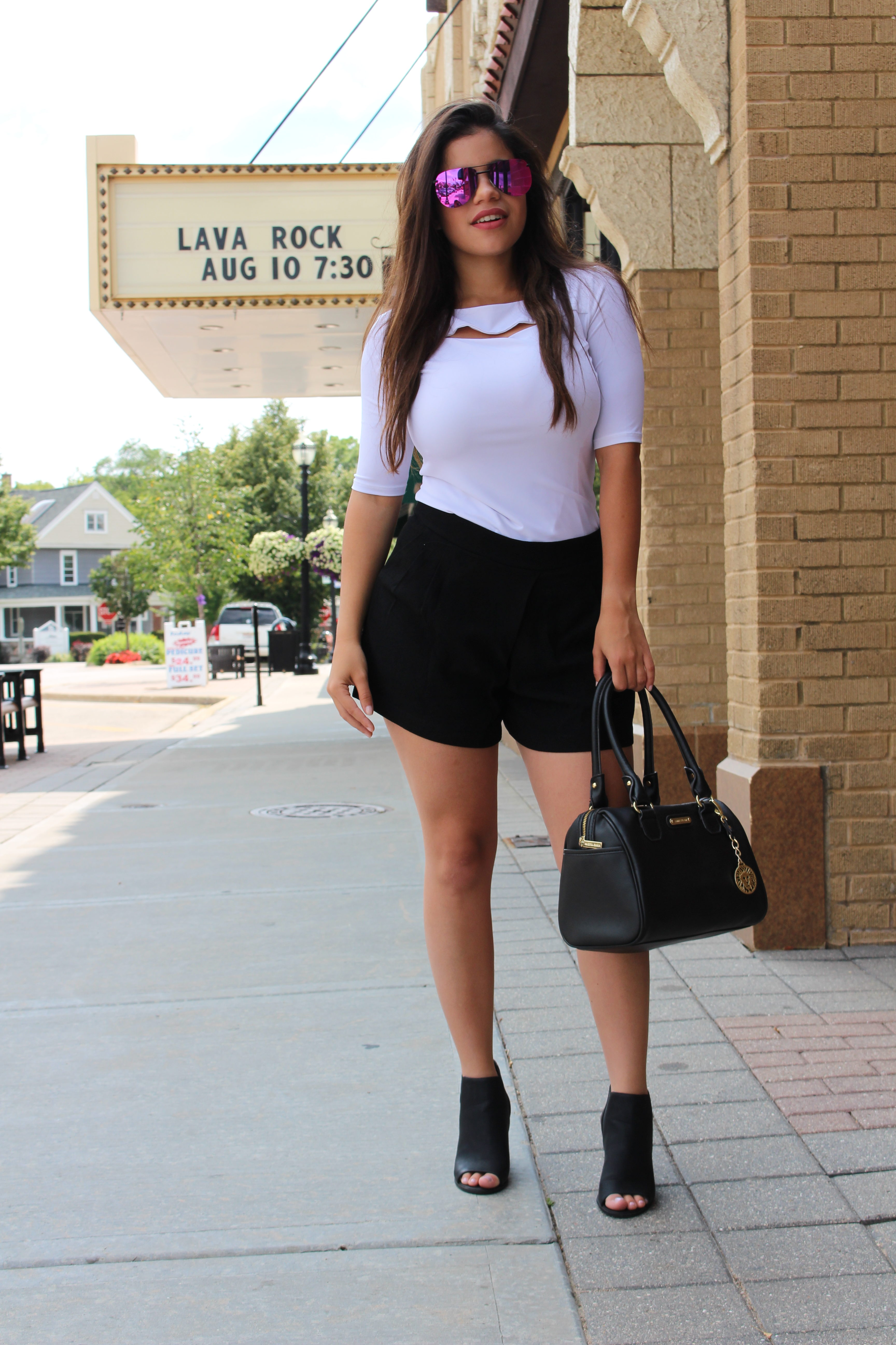 Black and White OOTD ann klein summer casual outfti call it spring shoes quay australia the playa details OOTN date night outfit by Tu Fashion Petite Alejandra Avila