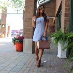vestido azul forever21 summer outfits michael kors selma bag OOTD quay austrealia high key gold gold charlotte russe details outfit idea summer outfit ideas - Tu Fashion Petite Alejandra Avila